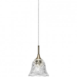 Pendelleuchte, Wohnraumleuchten BOVALL gold, 1 x E14 / 40W Metall Kristallglas klar