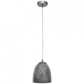 Pendelleuchte, Wohnraumleuchten ONTARIO, 1 x E14 / 40W, silber Pendel Länge 1500 mm