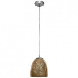 Pendelleuchte, Wohnraumleuchten ONTARIO, 1 x E14 / 40W, gold Pendel Länge 1500 mm
