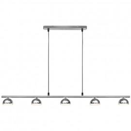 LED Pendelleuchte, 5 LEDs / 230V / 3,8W  Breite 1000 mm, Pendel Länge 1300 mm