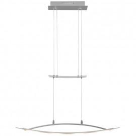 LED Pendelleuchte, 4 LEDs / 4,5W Metall Nickel matt Glas klar / satiniert