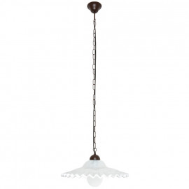 Pendelleuchte, Wohnraumleuchten 1 x E27 / 75W Metall braun antik Muranoglas