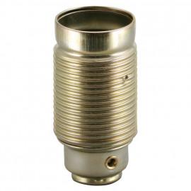 Lampen Metallfassung E14, vermessingt mit Außengewinde