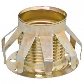 Lampen Fassungen Metallfederring E14, vermessingt mit Tellerhülse