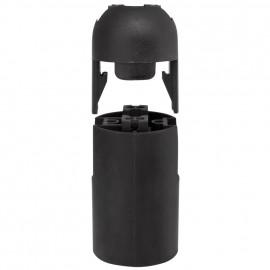 E14 Iso Fassung schwarz ohne Außengewinde
