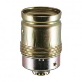 Lampen Metallfassung E27, ohne Außengewinde vermessingt