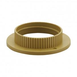 Kunststoff Fassungen ISO Gegenring E27, gold 2 Stück