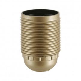 E27 Iso Fassung gold mit Außengewinde