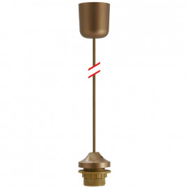 Lampen Leuchtenpendel, 1 x E27, gold Länge 1000mm