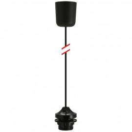 Lampen Leuchtenpendel, 1 x E27, schwarz Länge 800mm