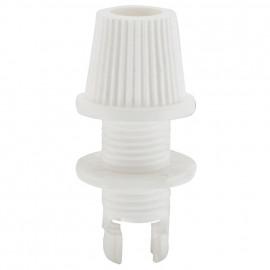 Leuchten Klemmnippel Zugentäastung, Kunststoff, weiß, M10