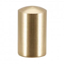 Knopf für Lampen Schirmträger, Messing poliert M10
