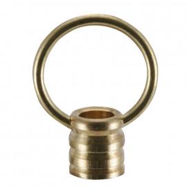 Leuchten Ringnippel, Messing poliert, M10