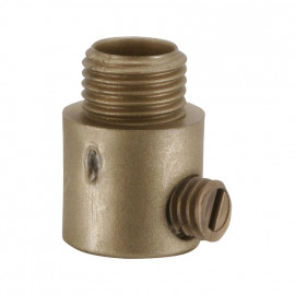 Leuchten Klemmnippel, Nylon, gold, M10 mit seitlicher Schraube