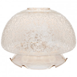 Lampenglas Gold Eisstruktur, Ø 180 mm, Höhe 130 mm