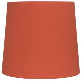 Leuchtenschirm, Textil rotorange für E14 / E27 Fassungen Ø 170 mm, Höhe 150 mm