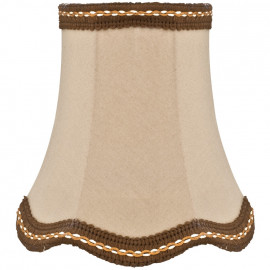Kleiner Stoff Aufsteckschirm, für E14 Tischlampe Hautfarben Höhe 130 mm