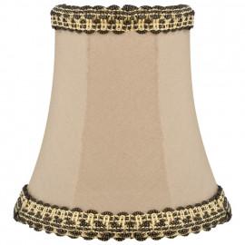 Stoff Aufsteckschirm, für E14 Lampe Stoffbezug Höhe 110 mm