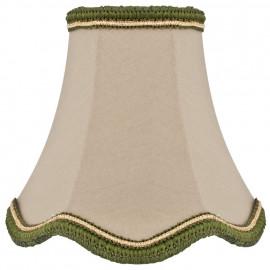 Stoff Aufsteckschirm, für E14 Lampe Hautfarben Höhe 130 mm