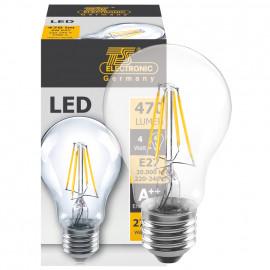 LED Fadenlampe, AGL Form, E27 / 4W, klar, 470 lm, TS Electronics