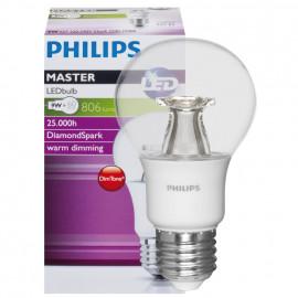 LED Lampe, AGL MASTER LEDBulb, DimTone, E27 / 9W, klar, 806 lm, Länge 110 mm, Ø 60 mm