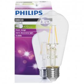 LED Fadenlampen, Edison, E27 / 240V / 2,3W, klar, 250 lm, Philips