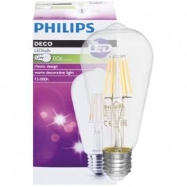 LED Lampe, Edison, E27 / 240V / 7,5W, klar, 806 lm, Philips