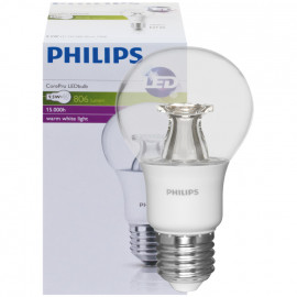 LED Lampe, COREPRO LEDBULB, AGL klar, E27 / 230V 9,5W (60W), 806 lm Philips