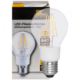 LED Fadenlampe, AGL, E27 / 5,5W, klar, 640 lm, TS Electronics