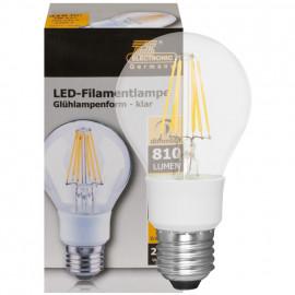 LED Fadenlampe, AGL, E27 / 7W, klar, 810 lm, TS Electronics