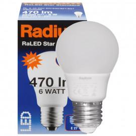 LED Lampe, RaLED STANDARD, AGL matt, E27 / 240V 6W (40W), 470 lm