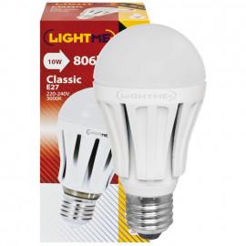 LED Lampe, AGL LED CLASSIC, E27 / 10W, opal, 806 lm, 3000K LightMe