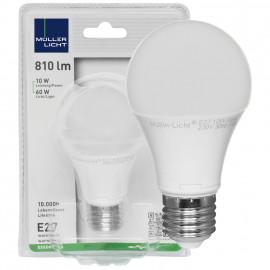 LED Lampe, AGL E27 / 10W, opal, 810 lm, 2700K Müller Licht