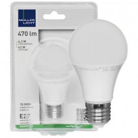 LED Lampe, AGL  E27 / 5,5W, opal, 470 lm, 2700K Müller Licht