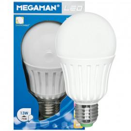 LED Lampe, AGL LED Classic, E27 / 13W, matt, 1055 lm, 2800K Megaman