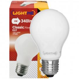 LED Lampe, AGL LED Classic, E27 / 4W, opal, 340 lm, 2700K LightMe