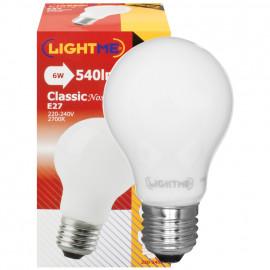 LED Lampe, AGL LED Classic, E27 / 6W, opal, 540 lm, 2700 LightMe