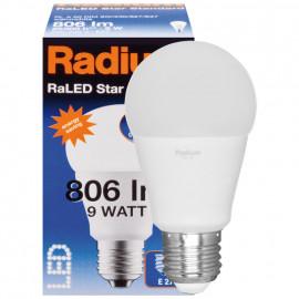 LED Lampe, RaLED STANDARD, AGL matt, E27 / 240V 9W (60W), 806 lm