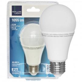 LED Lampe, AGL  E27 / 12W, matt, 2700K,  1055 lm Müller Licht