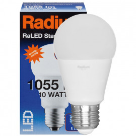 LED Lampe, RaLED STANDARD, AGL matt, E27 / 240V 10W (75W), 1055K