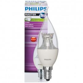 LED Lampe, Kerze, MASTER LEDcandle, DIMTONE, E14 / 6W, klar, 470 lm, Philips