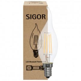 LED Fadenlampe, Windstoß, E14 / 4W, klar, 350 lm, dimmbar, Sigor