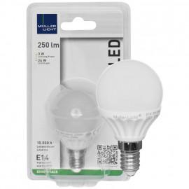 LED Lampe, Tropfen, E14 / 3W, opal, 250 lm, Müller Licht
