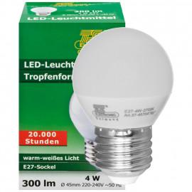 LED Lampe, Tropfen, E27 / 4W, Satiniert, 300 lm, TS Electronics
