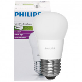 LED Lampe, Tropfen, COREPRO LEDluster, E27 / 4W, matt, 250 lm, Philips