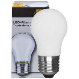 LED Fadenlampe, Tropfen Form, E27 / 2W, klar, 238 lm, TS Electronics