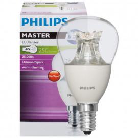 LED Lampe, Tropfen, MASTER LEDluster, E14 / 4W, klar, 250 lm, Philips