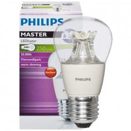 LED Lampe, Tropfen, MASTER LEDluster, E27 / 4W, klar, 250 lm, Philips