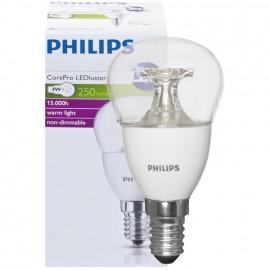 LED Lampe, Tropfen, COREPRO LEDluster, E14 / 4W, klar, 250 lm, Philips