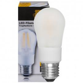 LED Fadenlampe, Tropfen, E27 / 4,5W, matt, 446 lm, TS Electronics